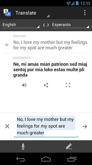 Google翻译截图