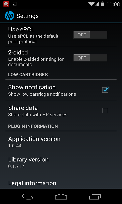 HP打印服务插件截图