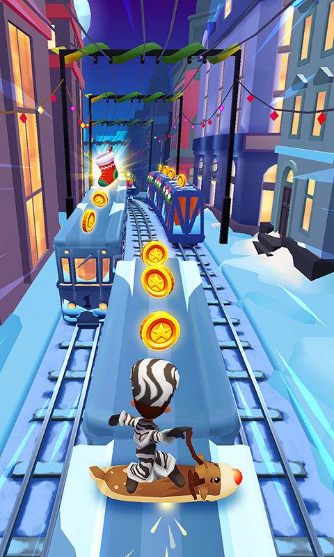 地铁跑酷( 冰雪大冒险 )截图