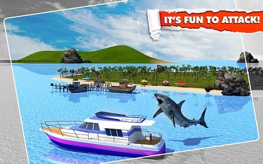 愤怒的鲨鱼模拟3D截图