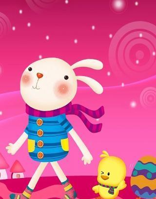 超可爱卡通小兔壁纸图片