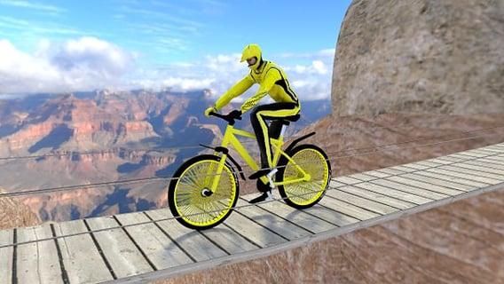 骑小轮车山地自行车的人