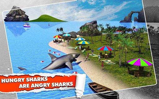 愤怒的鲨鱼模拟3D