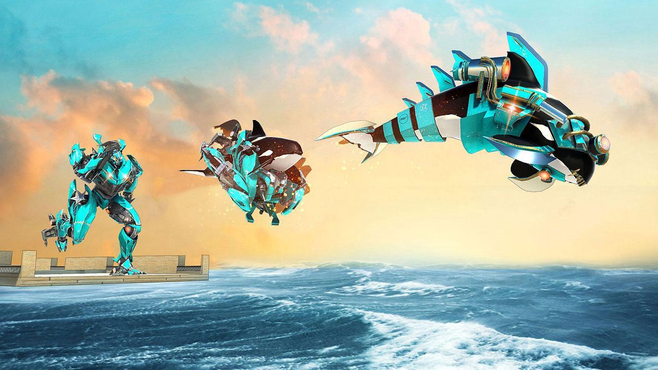 鲨鱼变形金刚大战截图