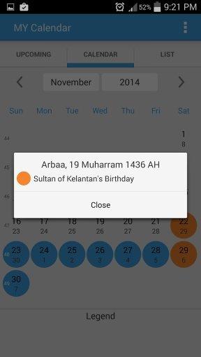 MY Calendar截图