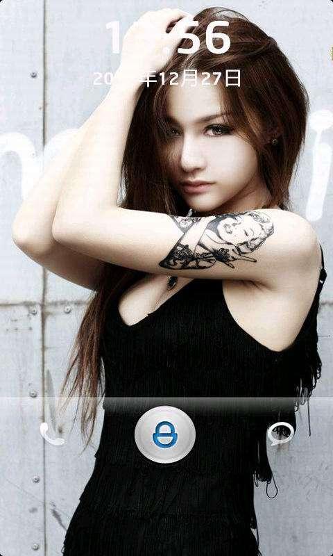 oppor11纹身锁屏壁纸分享展示
