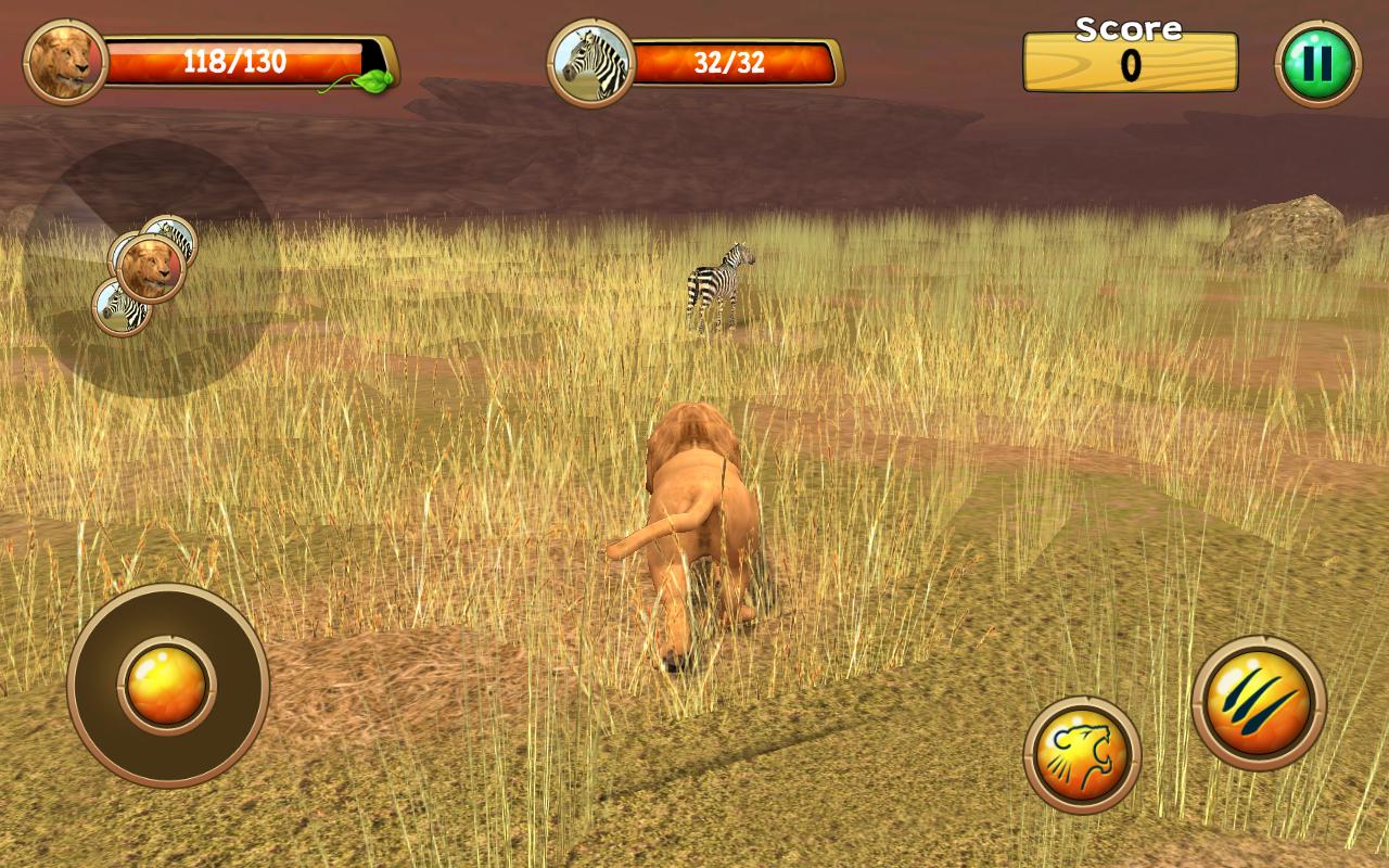 Wild Lion Simulator 3D截图