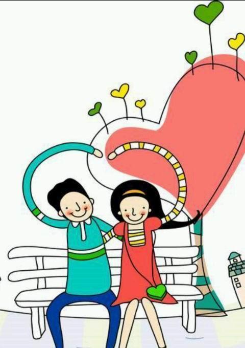 甜蜜卡通情侣壁纸桌面美化下载_安卓手机甜蜜卡通情侣图片
