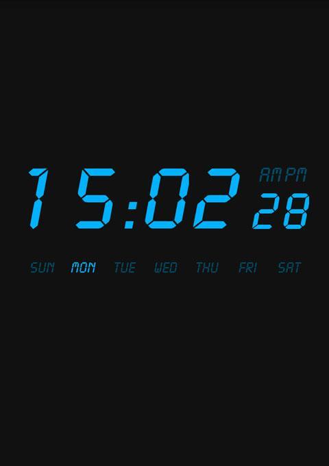液晶时钟截图