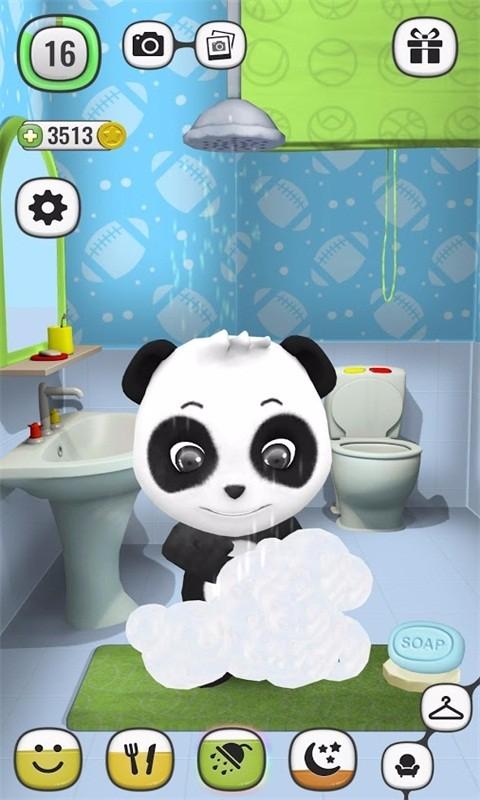 熊猫饿了,你需要喂他吃饭.当然,吃完饭后帮她刷牙时必不可少的.图片