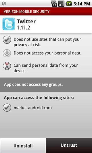 Verizon Mobile Security