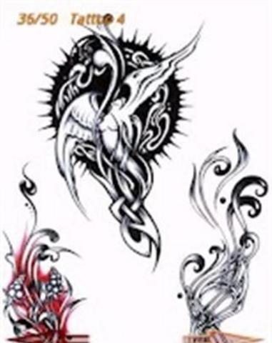 脸,脚,臀部,背部,大腿,颈部,侧,手腕,肩膀和手臂的纹身图案★中国和
