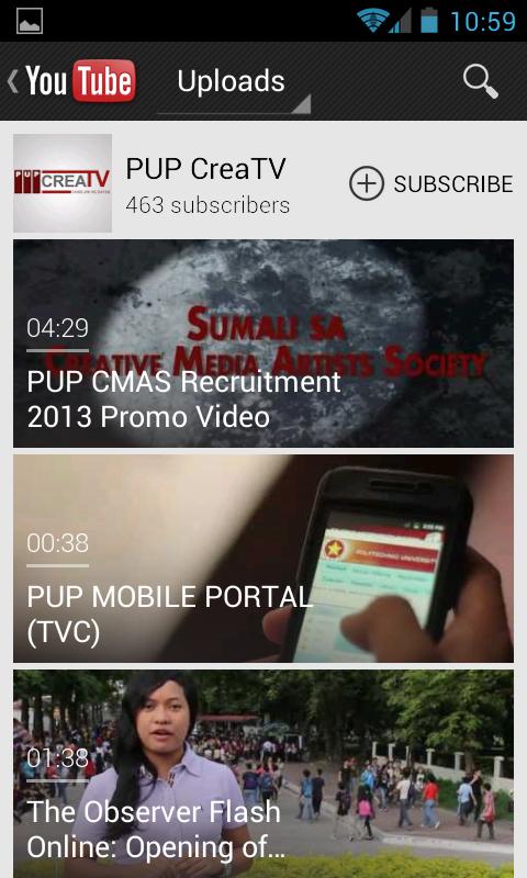 PUP Mobile Portal截图