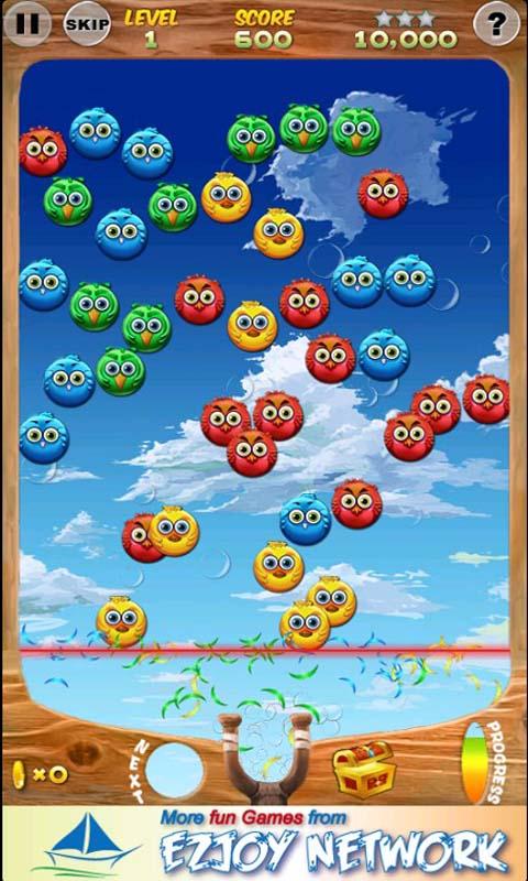 小鸟泡泡龙是一款很不错的街机泡泡龙游戏泡
