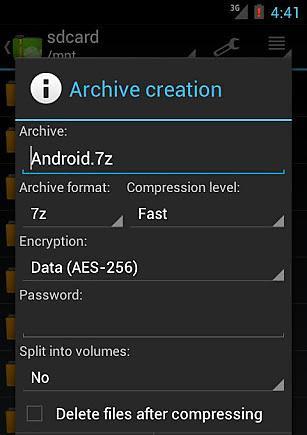 ZArchiver解压工具截图