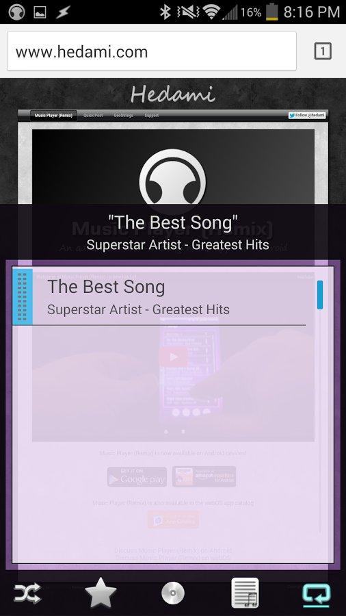 Music Player 混音截图