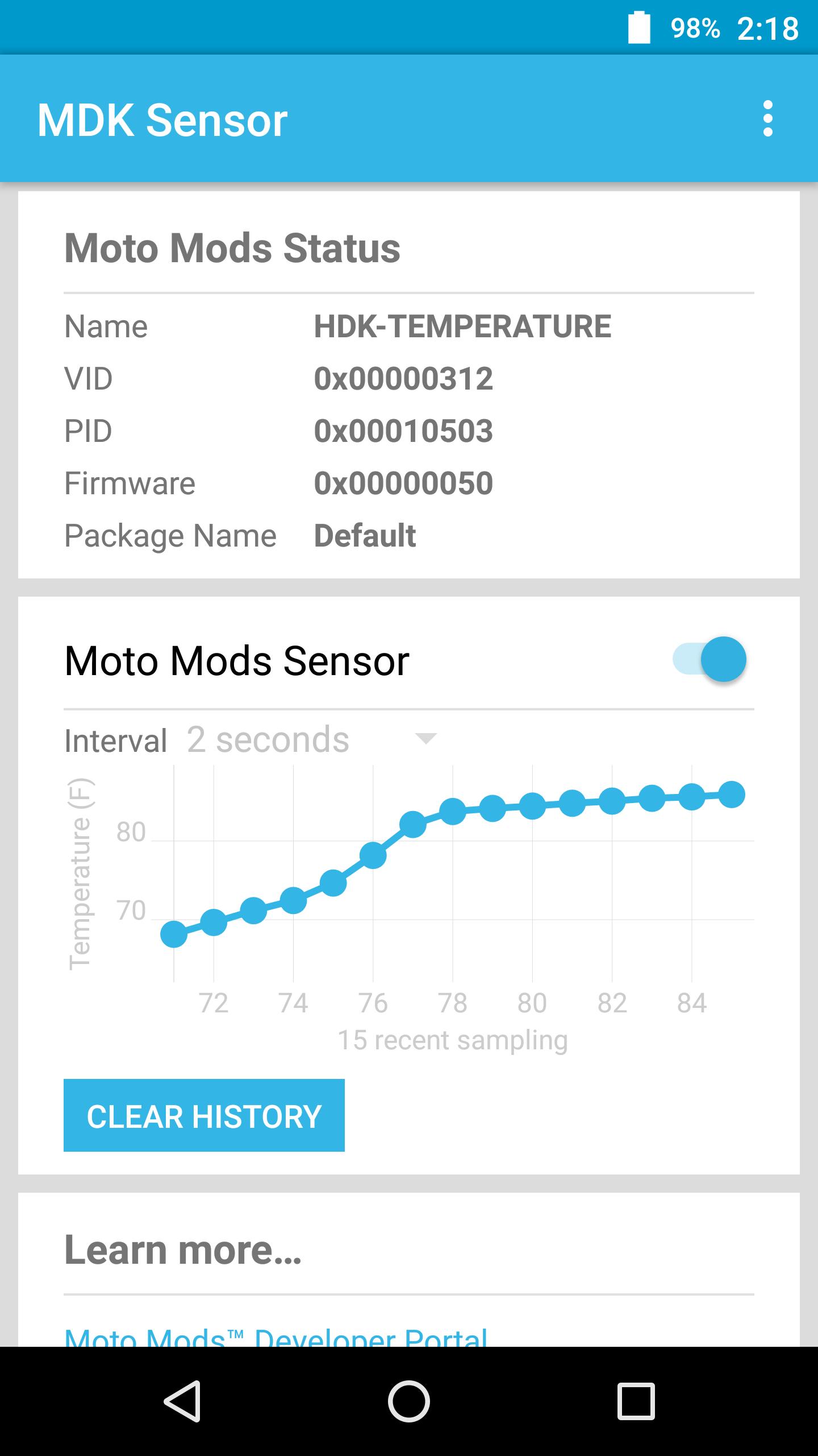 MDK Sensor示例截图