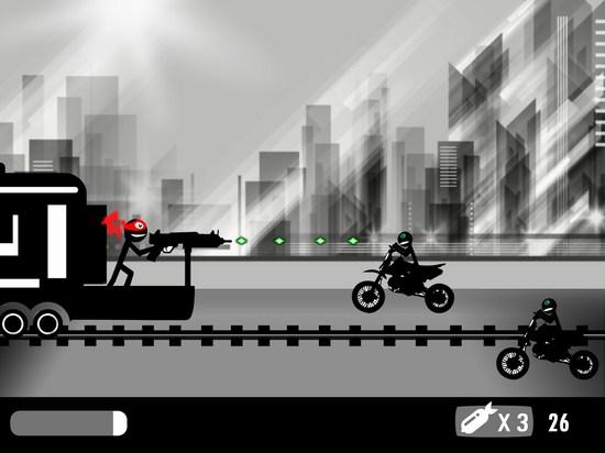 火柴人列车射击截图