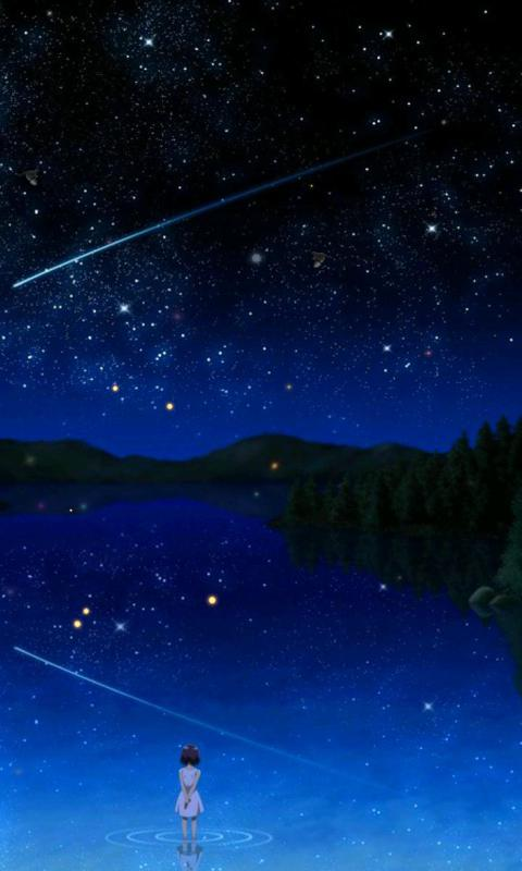 动漫星空唯美意境-绿豆动态壁纸图片