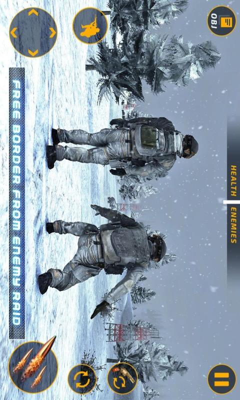狙击手冬日吃鸡枪战截图