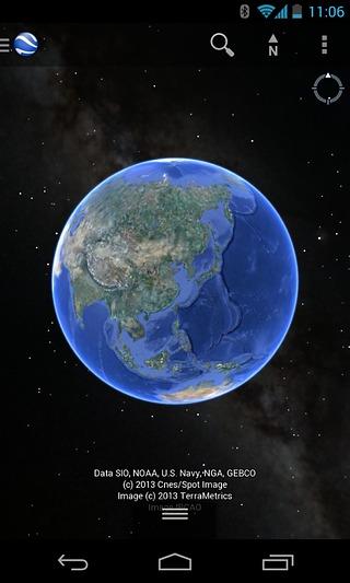 Google 地球截图