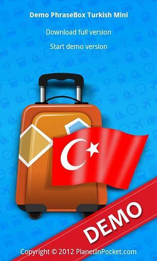 Demo PhraseBox 土耳其语 Mini