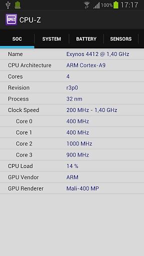 CPU-Z截图