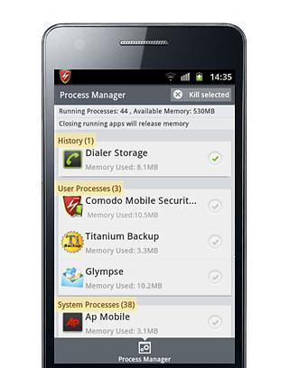 科摩多手机安全截图