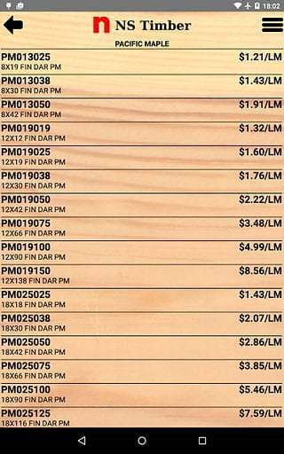 NST Price List截图