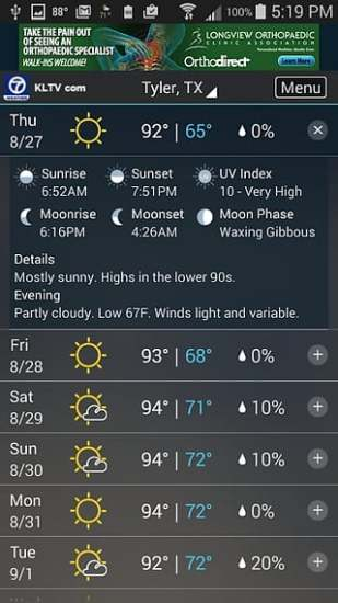 KLTV StormTracker 7 Weather截图