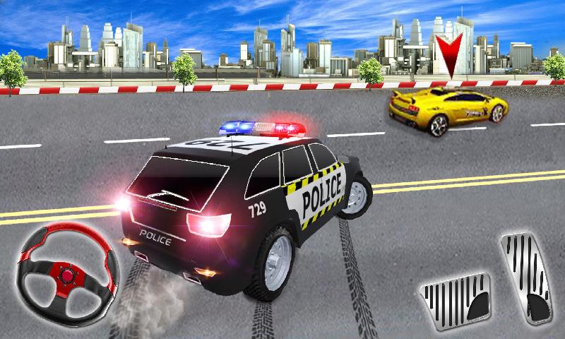 警察高速公路追逐赛截图