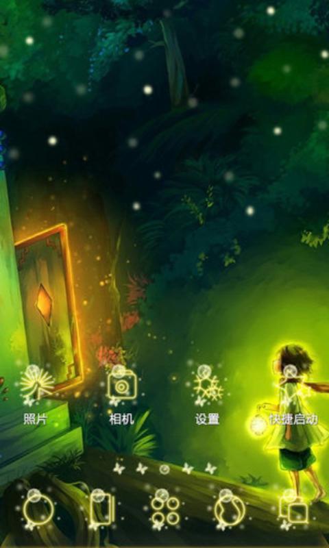 荧光森林 3d主题桌面图片图片