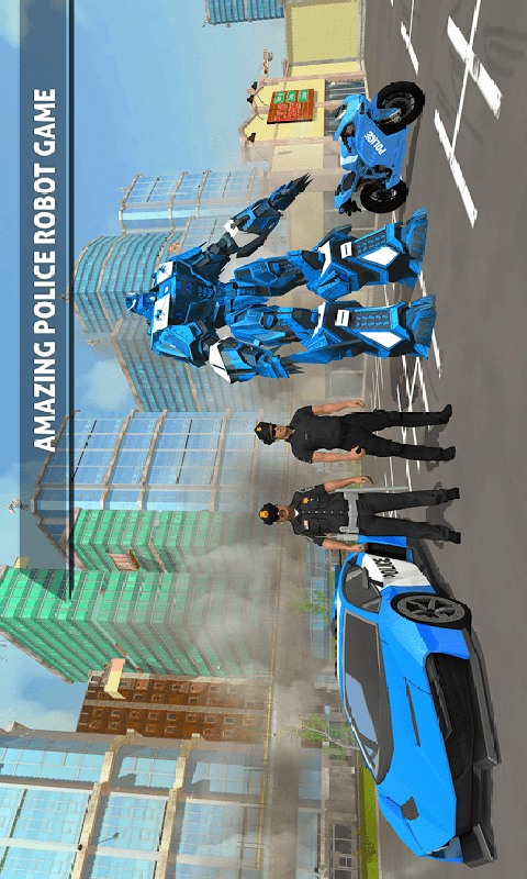 警察机器人汽车游戏截图