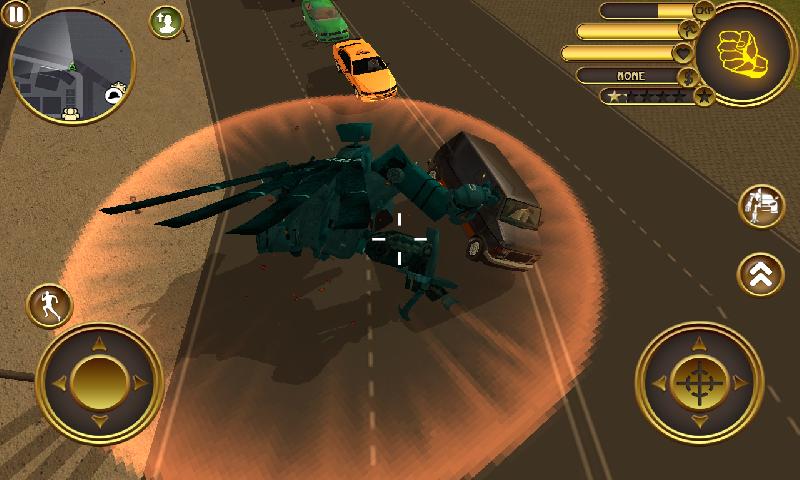直升机机器人战斗截图