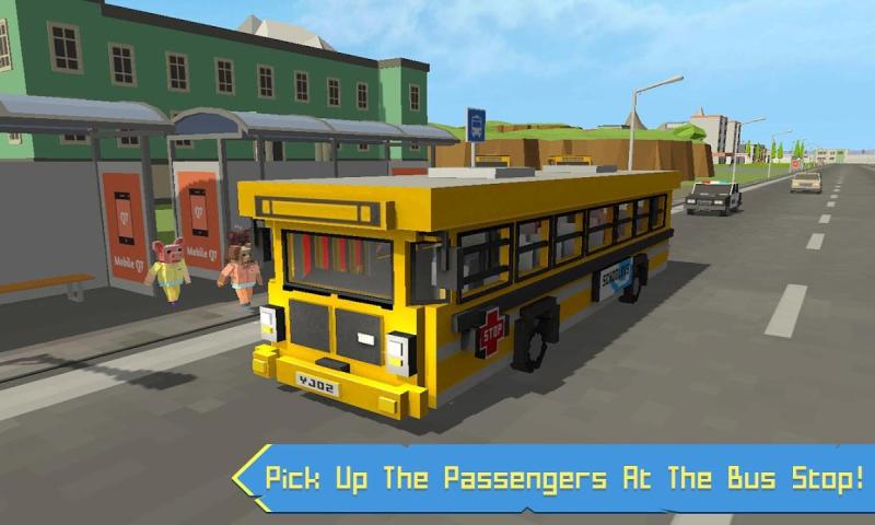 校车模拟器:块状世界截图