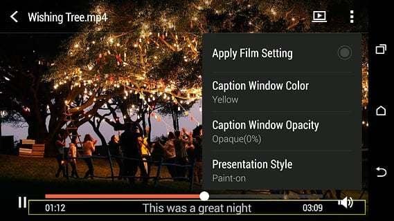 HTC 观看视频截图