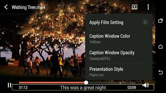 HTC 观看视频