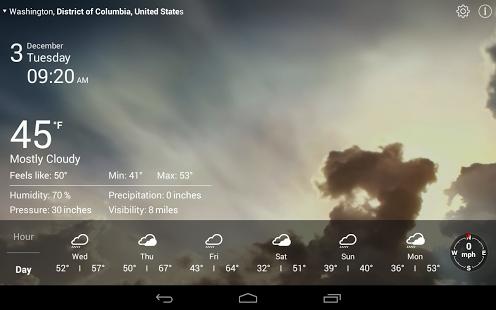 实时天气截图