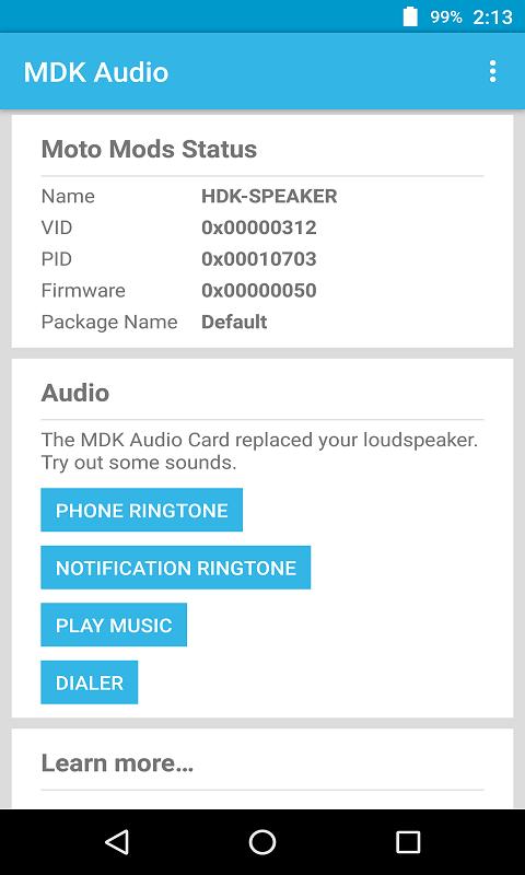 MDK音频示例
