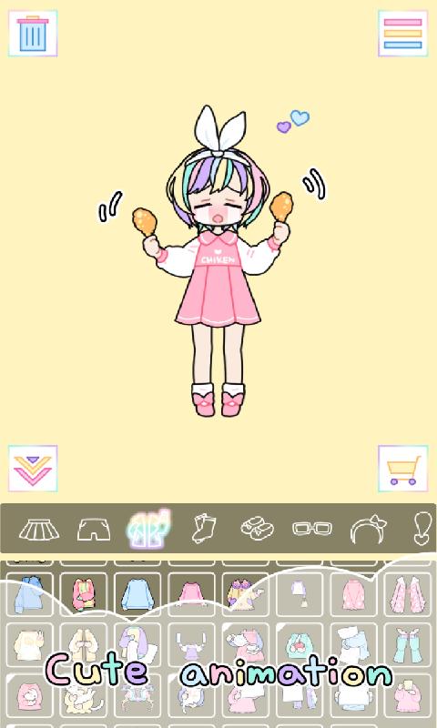 粉彩女孩-无限金币版截图