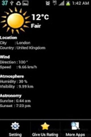 天气时钟截图