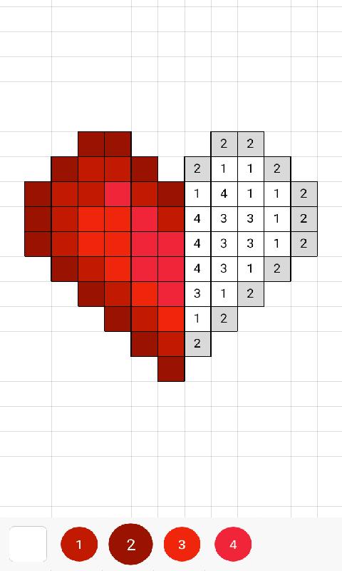 沙盒:按数字涂色画页