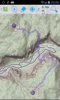 GPS导航信息截图