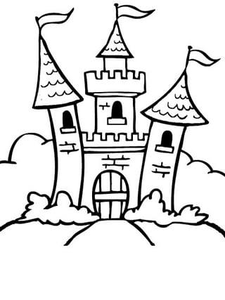 城堡公主王子简笔画