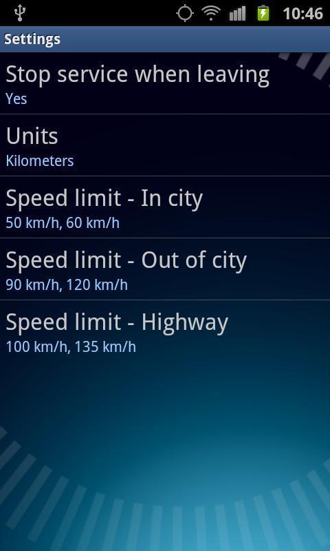 speed control app - controla la velocidad de