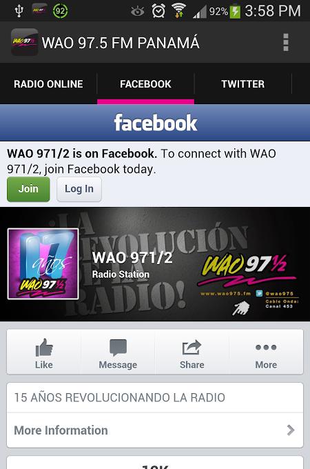 WAO FM PANAMá截图