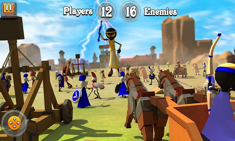 火柴人希腊勇士城堡战争截图