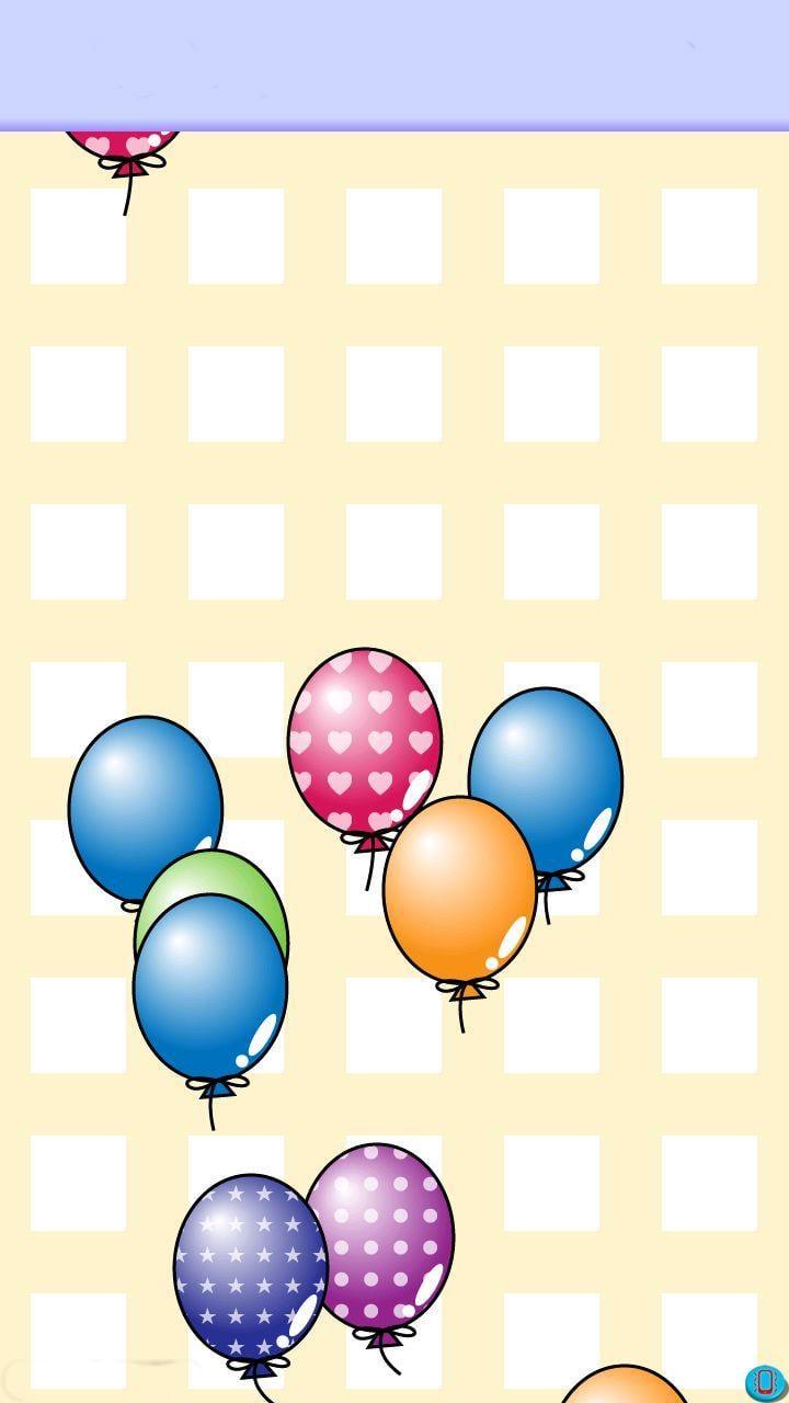 轻快音乐,可爱的气球和藏在里面的小动物,通过图片