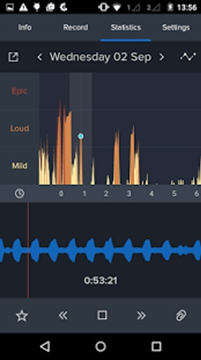 鼾声分析器截图