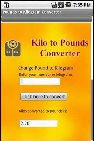 Pounds to Kilogram Converter